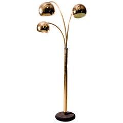 Goffredo Reggiani Brass Globe Floor Lamp, Italy, circa 1970