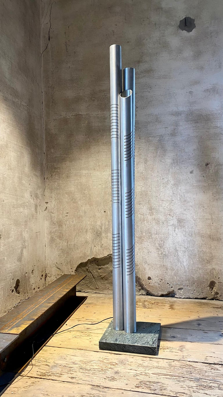 Space Age Goffredo Reggiani Chrome Metal Floor Lamp for Reggiani Illuminazione, 1975 For Sale