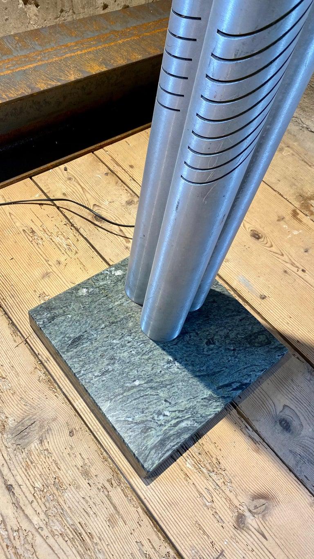 Marble Goffredo Reggiani Chrome Metal Floor Lamp for Reggiani Illuminazione, 1975 For Sale