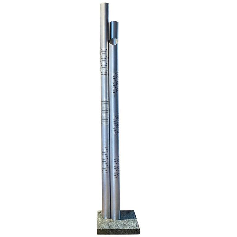 Goffredo Reggiani Chrome Metal Floor Lamp for Reggiani Illuminazione, 1975 For Sale