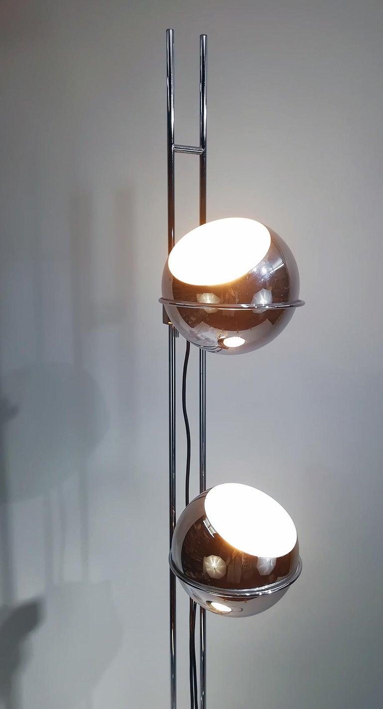 Goffredo Reggiani Eyeball Triple Light Floor Lamp Circa 1970 For Sale At 1stdibs