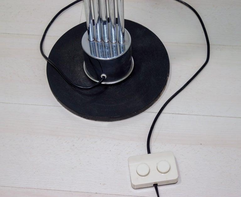 Goffredo Reggiani Mid-Century Modern Italian 5 Lights Chrome Floor Lamp, 1970s For Sale 6
