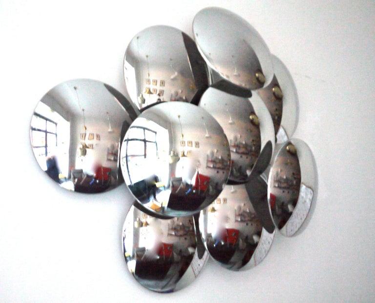 Goffredo Reggiani Nine Convex Disc Sconce For Sale 4