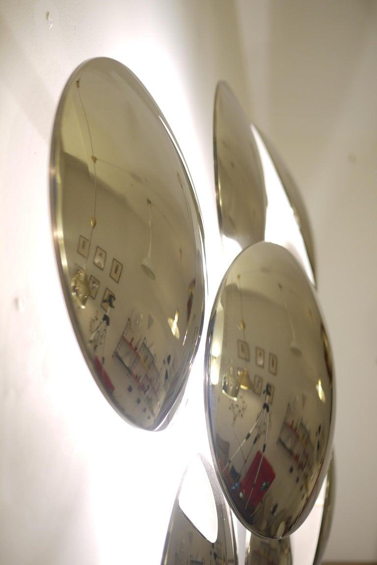 Goffredo Reggiani Nine Convex Disc Sconce For Sale 1