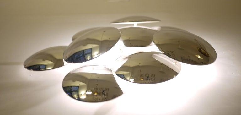 Goffredo Reggiani Nine Convex Disc Sconce For Sale 3