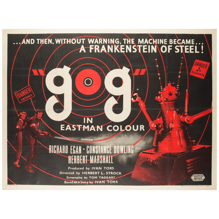 GOG UK Film, Movie Poster, 1954 For Sale