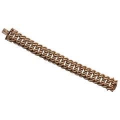 Gold American Double Link Bracelet