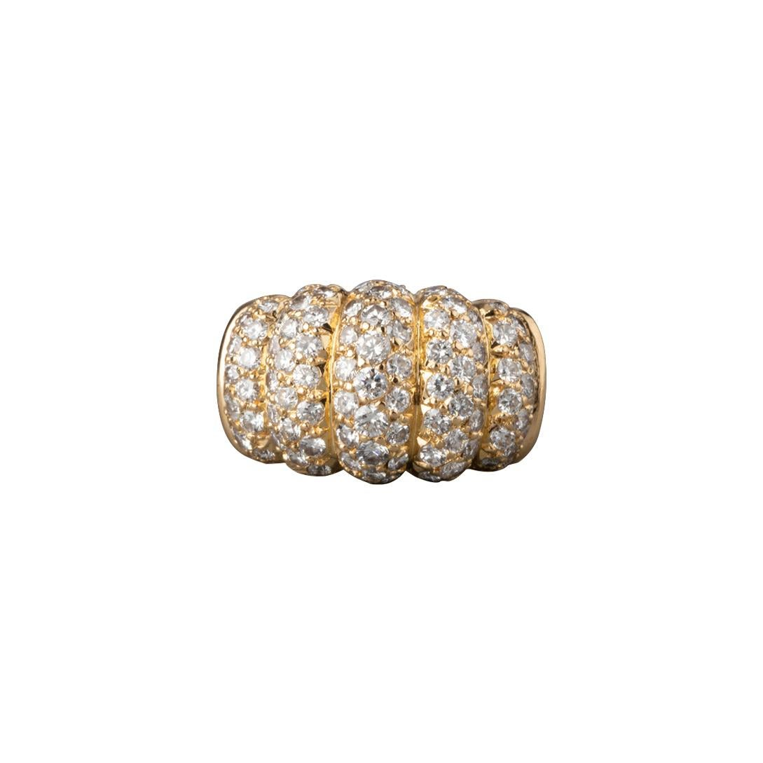 Gold and 2.50 Carats Diamonds Van Cleef & Arpels Ring