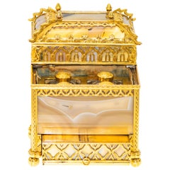 Gold and Agate Gothic Table Necessaire
