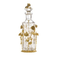 Gold and Amber Rose Perfume Bottle