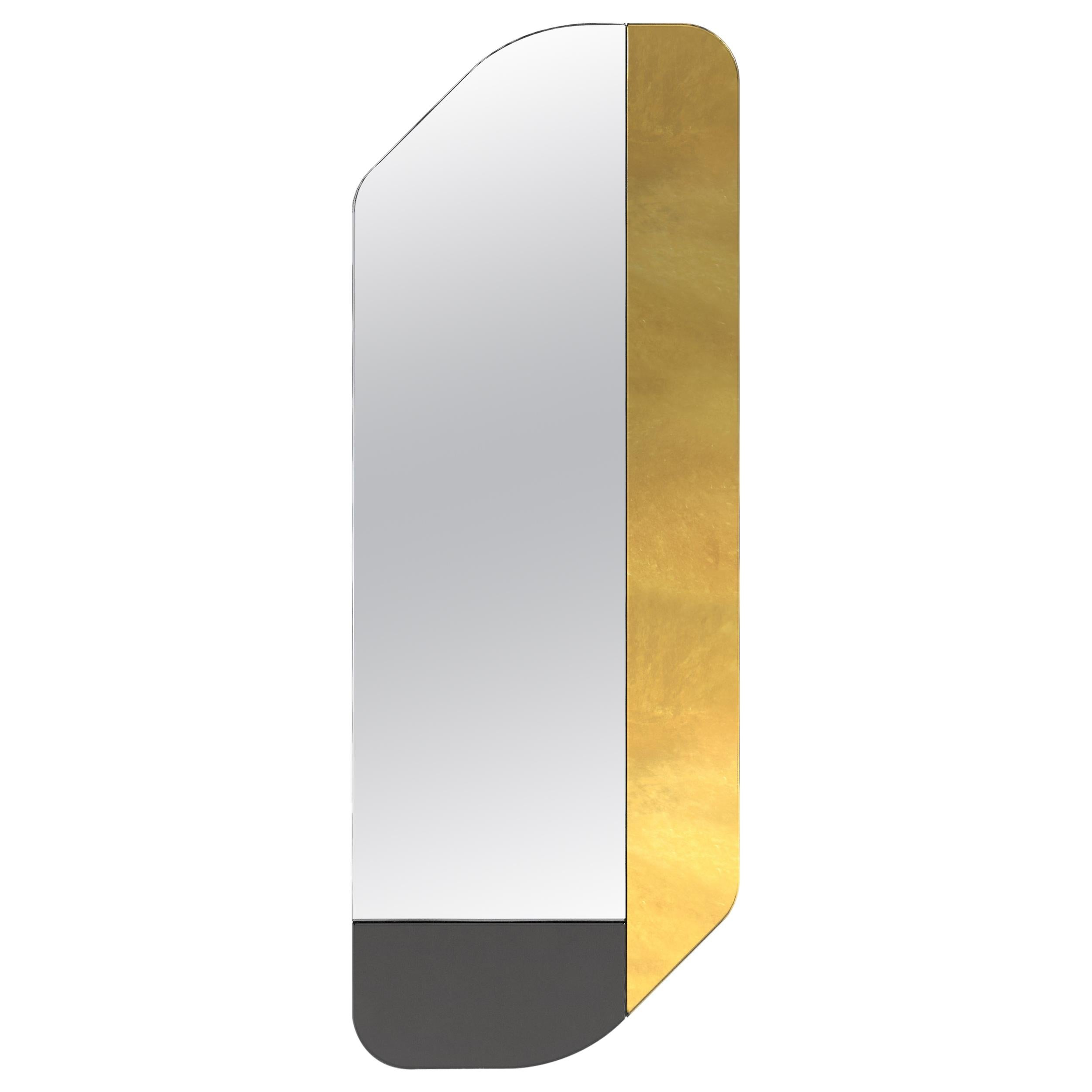 Gold and Black WG.C1.D Hand-Crafted Wall Mirror