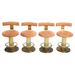 Design for Leisure Art Deco Revival Brass Counter Stools