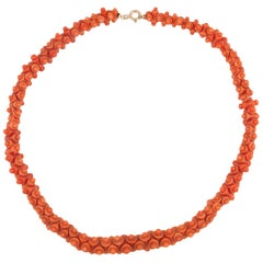 Gold and Coral Necklace