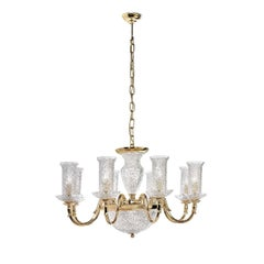Gold and Crystal 11-Light Chandelier