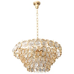Gold and Crystal Chandelier by Palwa