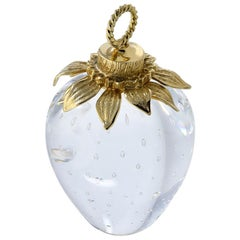 Gold and Crystal Steuben Strawberry