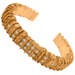 Gold and Diamond Bangle Bracelet, Judith Ripka