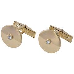 Gold and Diamond Cartier Cufflinks