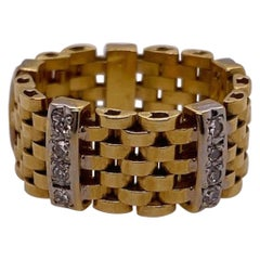 Gold and Diamond Flexible Ring