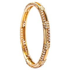 Gold and Diamond Leaf Bracelet