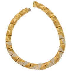 Gold and Diamond Necklace by Henry Dunay
