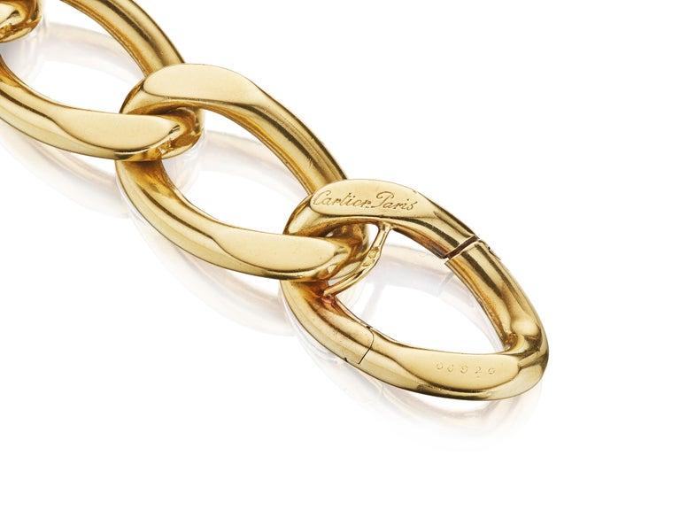 Brilliant Cut Cartier Paris circa 1945 Gold and Diamond Necklace Convertible to Bracelets For Sale