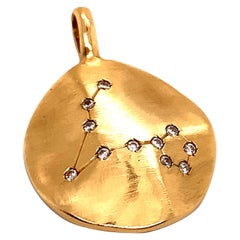 Gold and Diamond Pisces Constellation Charm