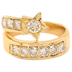 Gold and Diamond Shooting Ring