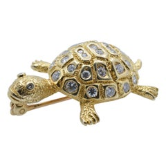 Gold and Diamond Turtle Brooch, 1970