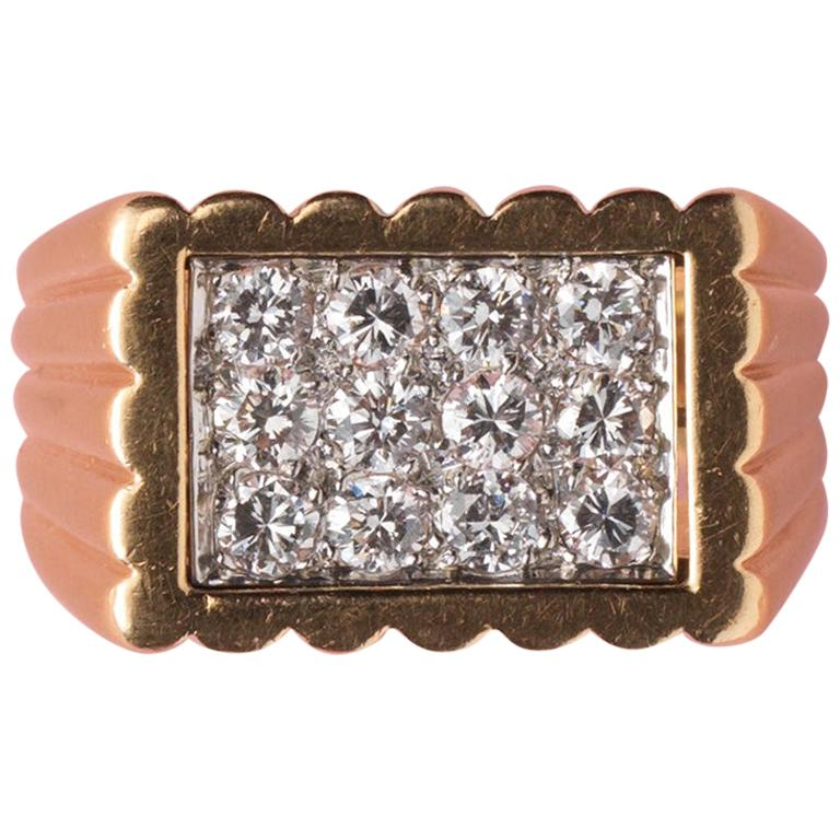 Gold and Diamond Van Cleef & Arpels Ring For Sale