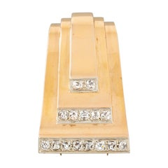 Gold and Diamonds French Clip