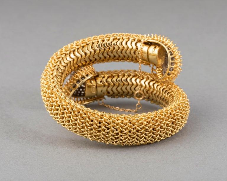 Gold and Diamonds Vintage Bracelet For Sale 5