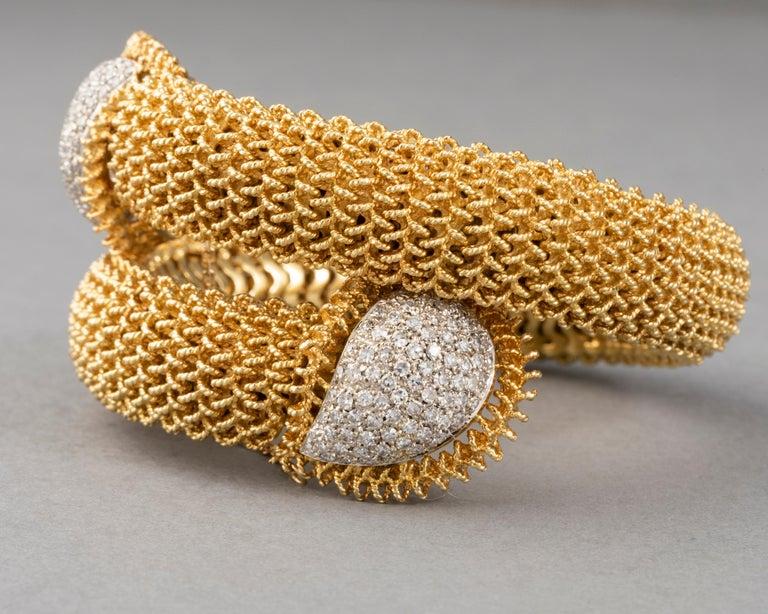 Gold and Diamonds Vintage Bracelet For Sale 6