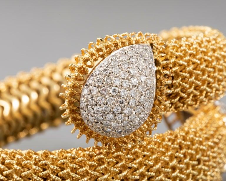 Gold and Diamonds Vintage Bracelet For Sale 7