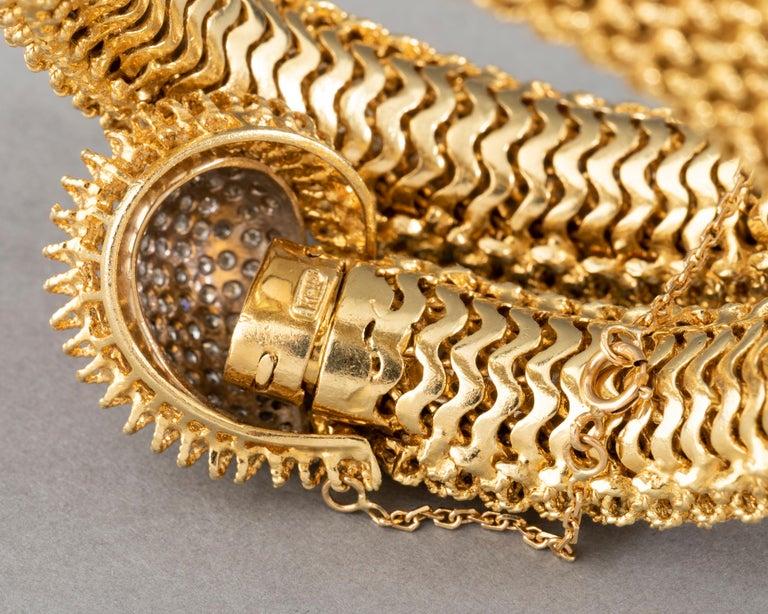 Gold and Diamonds Vintage Bracelet For Sale 8