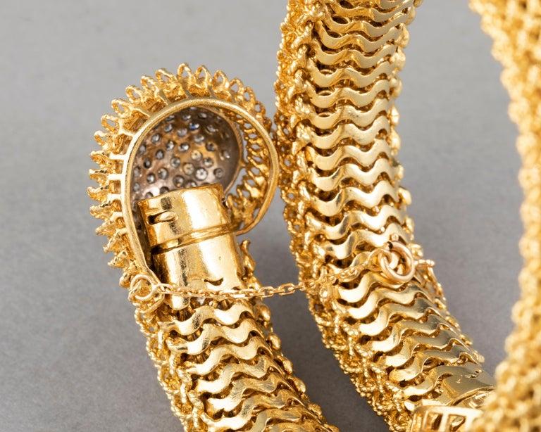 Gold and Diamonds Vintage Bracelet For Sale 9