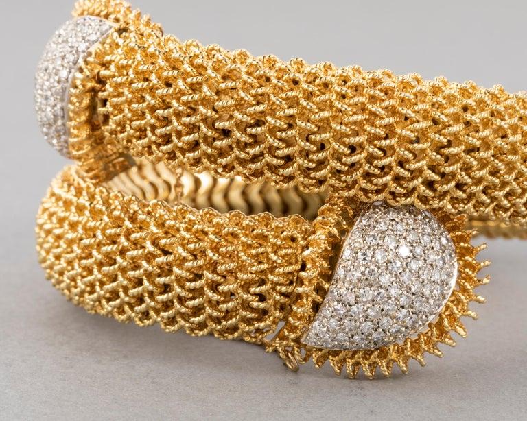 Gold and Diamonds Vintage Bracelet For Sale 1