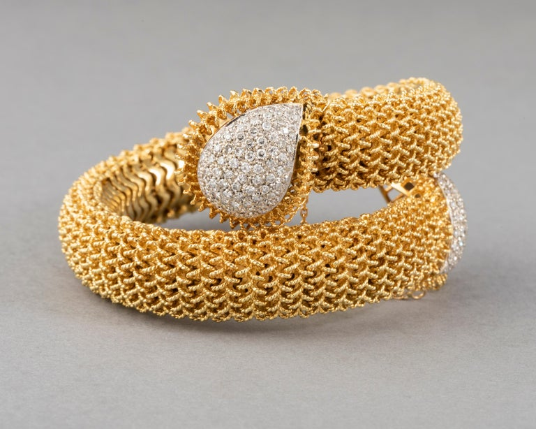 Gold and Diamonds Vintage Bracelet For Sale 2