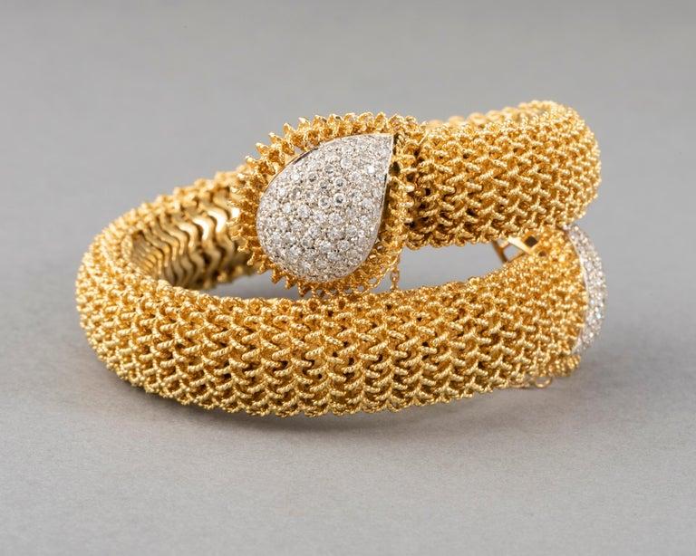 Gold and Diamonds Vintage Bracelet For Sale 3