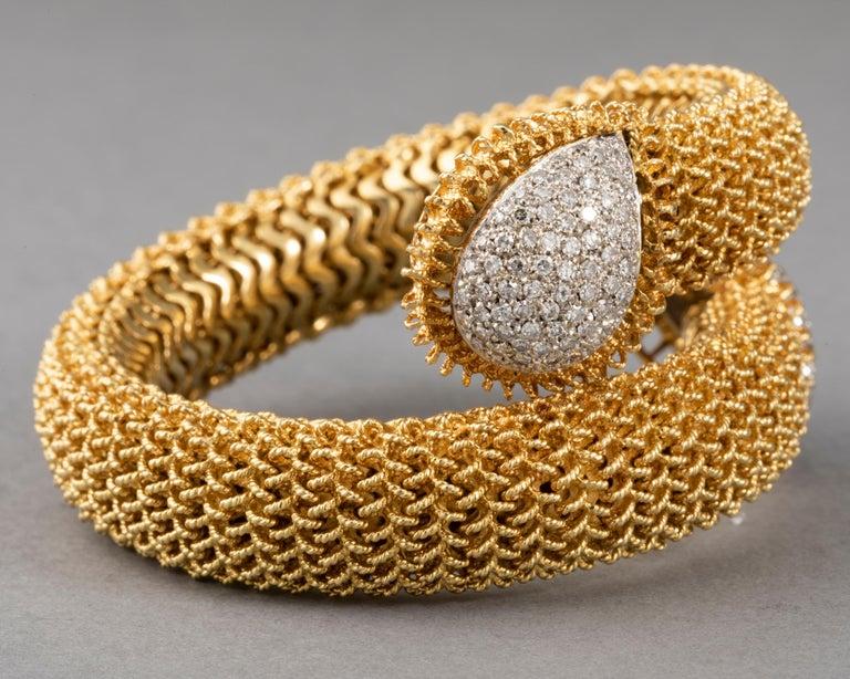 Gold and Diamonds Vintage Bracelet For Sale 4