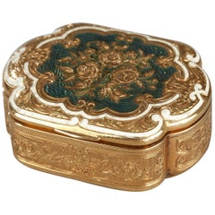 Gold and Enamel Box, Late 19th Century