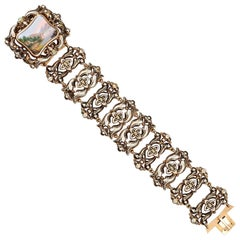 Gold and Enamel Bracelet, 19th Century
