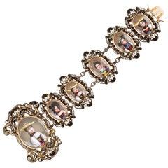 Gold and Enamel Bracelet, Mid-19th Century