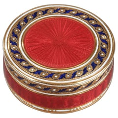 Gold and Enamel Candy Box, Late 18th Century