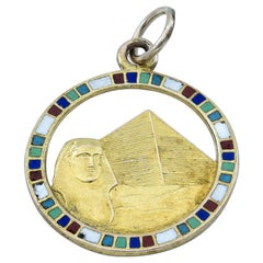 Gold and Enamel Egyptian Revival Charm