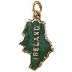Gold and Enamel Ireland Charm