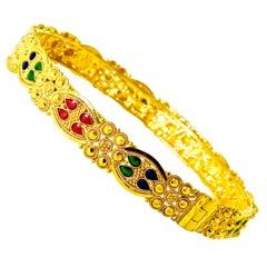 Gold and Enamel Vintage Bracelet