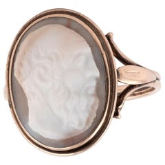 Gold and Hardstone Cameo Ring