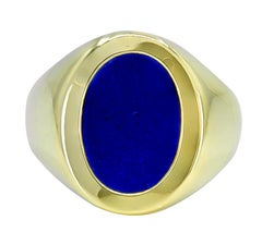 Gold and Lapis Tiffany & Co. Signet Ring