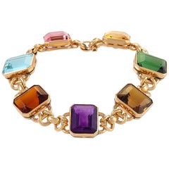 Gold and Multi-Gemstone Bracelet